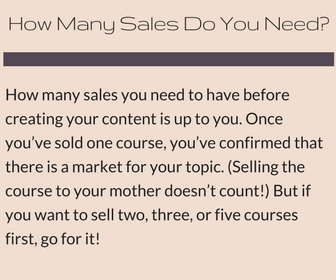 Pre-Sell Your Online Course: How many sales do you need?