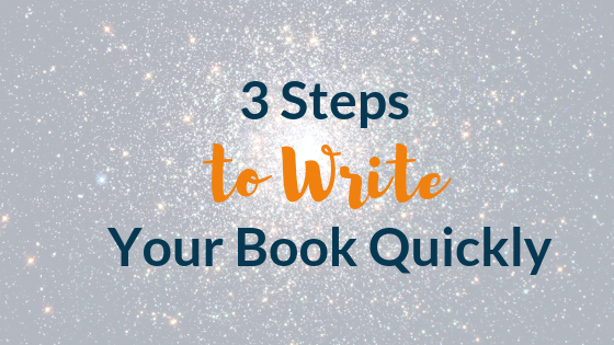 3 Steps to Write Your Book Quickly